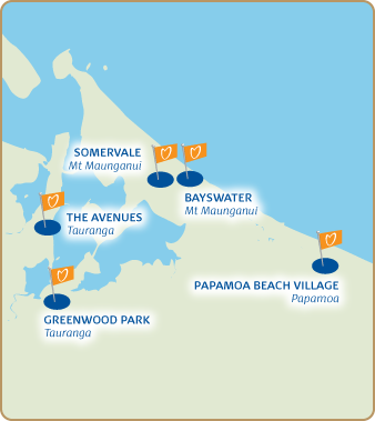 Bay of Plenty Villages Map