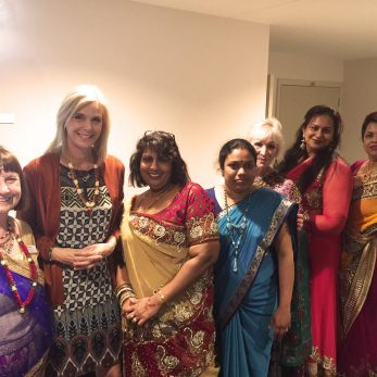 Jude Dobson celebrates Diwali at The Orchards